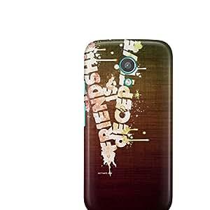 Motivatebox-Moto E2 (Second Generation) cover-Friendship is depective Polycarbonate 3D Hard case protective back cover. Premium Quality designer Printed 3D Matte finish hard case back cover.