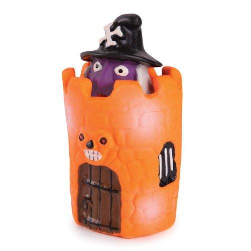 Zanies Latex Peek-A-Boos Dog Toy, Witch, 4-1/4-Inch