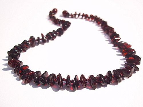 Certified Natural Batlic Amber Baby Teething Necklace - Cherry Split - *SCREW CLASP* *SAFETY KNOTTED*