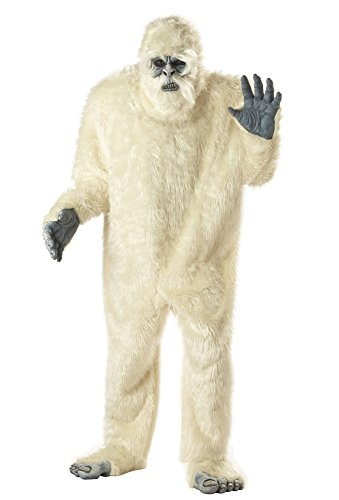 california costumes men's plus-size full faux fur abominable snowman suit costume in plus, white, plus size