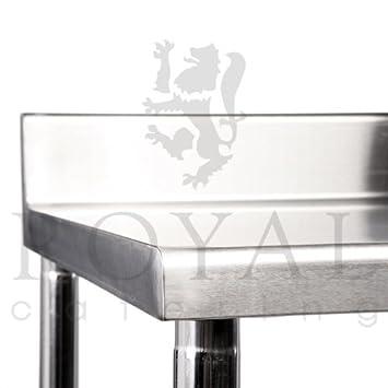royal catering rcat 120 60 s plan de travail 120 120 x 60 cm rebord de protection. Black Bedroom Furniture Sets. Home Design Ideas