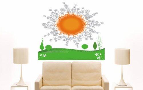 Imagen 2 de Etiqueta de la pared multicolor MD468 hermoso sol de la Mañana 120 x 102 cm