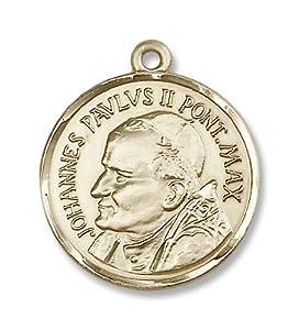 14kt Gold St. Pope John Paul II Medal