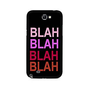 Motivatebox- Blah Blah Premium Printed Case For Samsung Note 2 -Matte Polycarbonate 3D Hard case Mobile Cell Phone Protective BACK CASE COVER. Hard Shockproof Scratch-