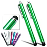 2xFirst2savvv green Touch screen stylus pen for ARCHOS ARNOVA 9 G2 ICS Tablet PC - 8GB,