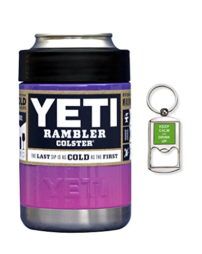 YETI Coolers Custom Rambler Colster Beverage Insulator - Keep your 12 oz (12oz) beer or soda, can or bottle, cold for hours (Laffy Taffy Pink Purple)