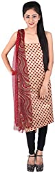 Bee Gee Boutique Women's Synthetic Unstitched Dress Materials (BG-10, Brown)