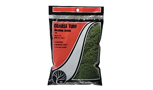 Medium Green Coarse Turf in a Bag Woodland Scenics
