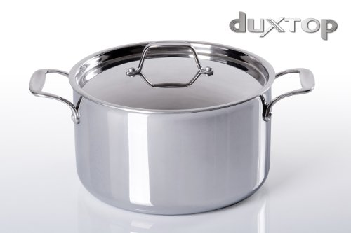 Duxtop Whole-Clad Tri-Ply Stainless Steel Induction Ready Premium Cookware SaucePan with Cover 6-1/2-Quart (Induction Heating Cookware compare prices)