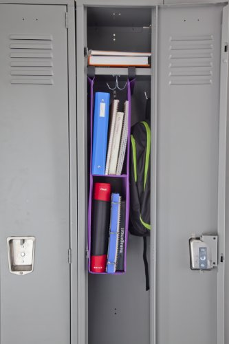 Five Star Hanging Locker Shelf Purple 72236 Arts
