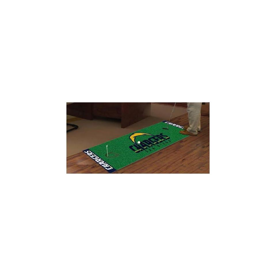 NFL   San Diego Chargers San Diego Chargers   NFL 24x96 Golf Putting Green Mat