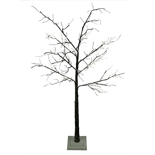 6' Led Lighted Flocked Christmas Twig Tree Outdoor Yard Art Decoration - Warm Clear