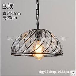 Simple glass shaped pendant lamp type b