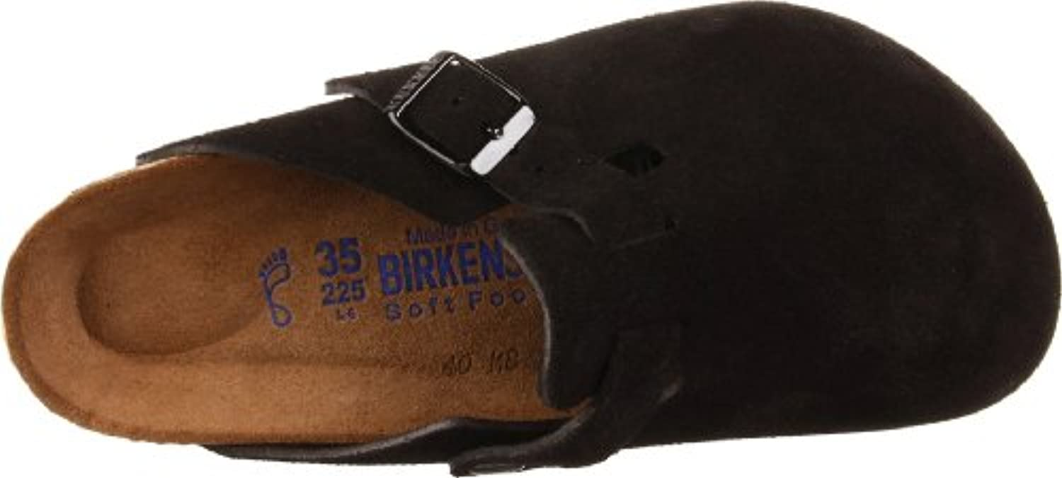 Birkenstock Boston Soft Footbed Clog,Black Suede,39 M EU