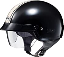 HJC IS-2 SCHADE MOTORCYCLE HALF-HELMET (2XLARGE, MC-52 BLACK/WHITE)