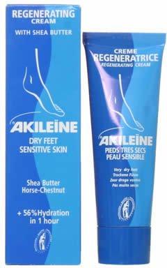 Akileine Blue Regenerating Cream for Dry Feet 50ml