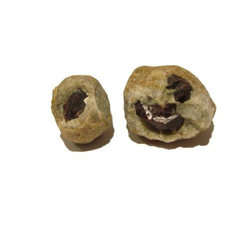 Garnet Mineral 10 Set of 2 Almandine Crystal Rock Blanket Stone Pair