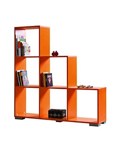 Kenyap Estantería Decolour Naranja 135 x 135 x 30