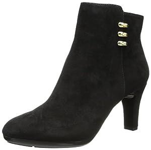 AK Anne Klein Women's Sondra Suede Boot, Black, 6.5 M US