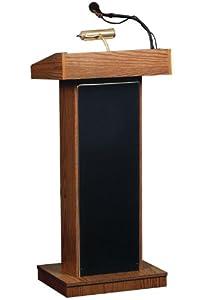 "Oklahoma Sound 800x-WT Orator Floor Sound Lectern, 22"" Width x 46"" Height x 17"" Depth, Walnut"