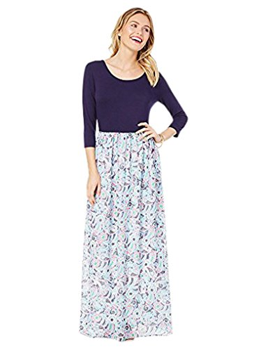 Charming Charlie Women's Pretty Paisley Maxi Dress XL Navy (Charming Charlie compare prices)