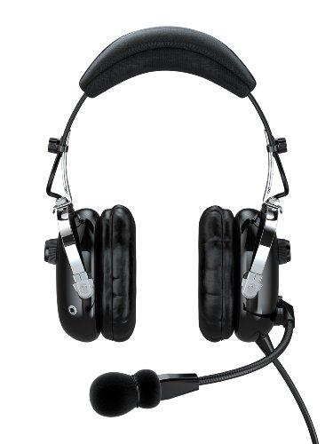 Faro G2-Anr Premium Anr Pilot Aviation Headset With Mp3 Input, Black