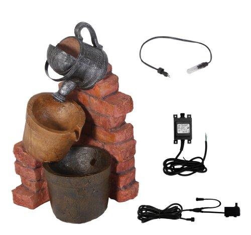 Fontaine Extérieur - Arrosoir et 2 Seaux avec Lumière