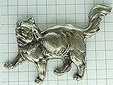 限定レア美品ピンズ◆銀色のネコ猫ピンバッジフランス