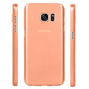 Galaxy S7 Case, Thin Fit Frosted Paper Armor Case Back Cover for Samsung Galaxy S7 (Orange)