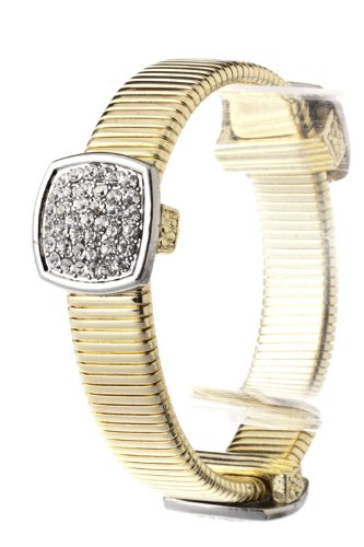 Trendy Fashion Jewelry Square Crystal Plate Bracelet By Fashion Destination | (Gold/Silver)