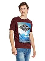 Lee Cooper Camiseta Manga Corta Dockport (Granate)
