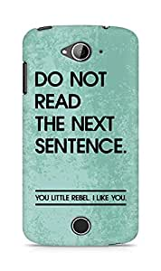 AMEZ do not read the next sentence i like you Back Cover For Acer Liquid Z530