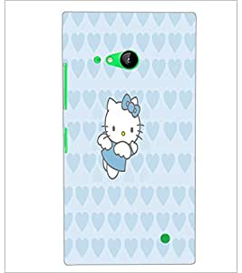 PrintDhaba Kitty D-5551 Back Case Cover for NOKIA LUMIA 730 (Multi-Coloured)