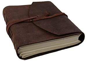 Enya Handmade Leather Journal , 100% Cotton Pages (15cm x 20cm)