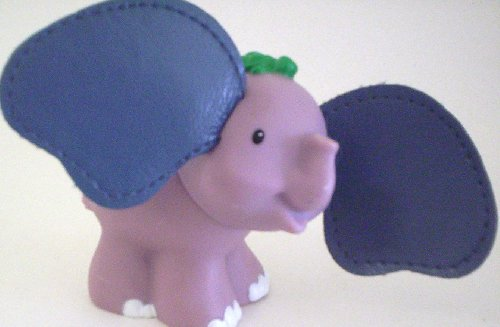 Little People Elephant Touch-N-Feel (2005) - Replacement Figure - Classic Fisher Price Collectible Figures - Loose Out Of Package & Print (OOP) - Zoo Circus Ark Pet Castle - 1