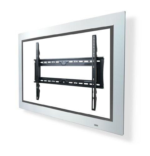 Telehook TH-3070-UF TV Wall Fixed Mount Universal VESA with Security Feature And Three Height Adjustment Levels (Black)