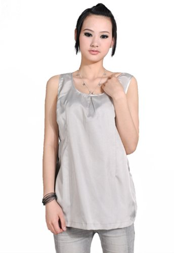 OurSure Anti Radiation Protection B35Maternity Clothes, Camisole Top with 50% Silver Blend Fabric Shielding, One Maternity Size, Silver, 8928090