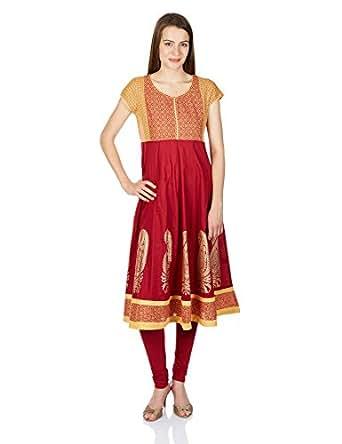 Buy Juniper Women's A-Line Kurta (30430RED_XXL) Online at ...