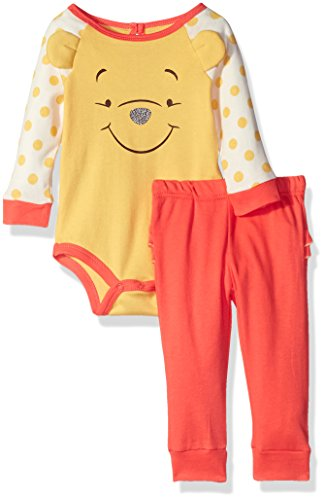 Disney Baby Girls' 2-Piece Winnie the Pooh Pant Set with 3d Applique