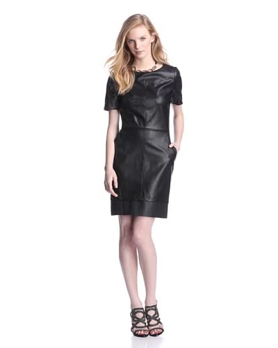 W118 by Walter Baker Women's Annika Faux Leather Dress  [Black]