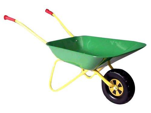 rolly-toys-271801-Schubkarre-aus-Metall-grn-gelb-80cm