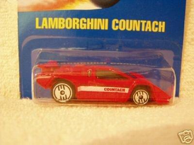 Mattel Hot Wheels 1991 164 Scale Red Lamborghini Countach Die Cast Car 232