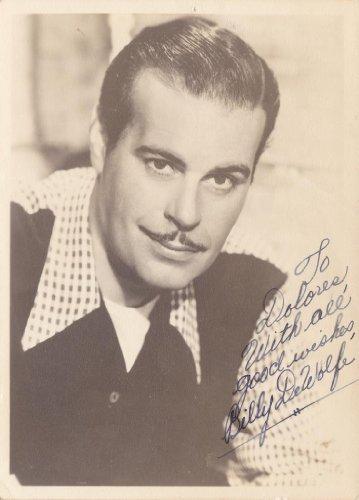 Bill Dewolfe Vintage Original 1940S Signed Autograph Fan Photo