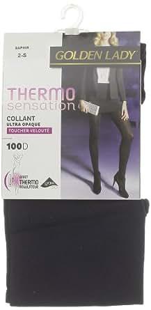 Golden Lady - Collants - Microfibre - Femme - Bleu (Saphir) - T3