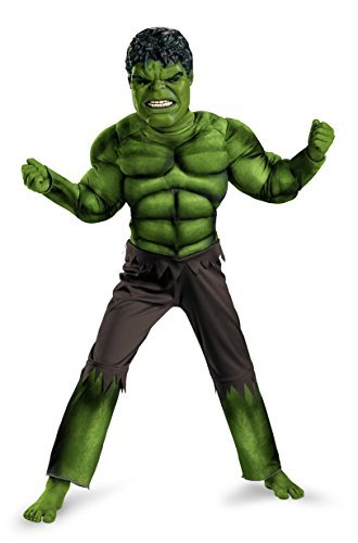 Avengers Hulk Classic Muscle Costume, Green/Brown, Large (10-12) Color: Green/Brown Size: Large (10-12) Model: 43660G - 1