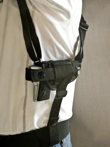 Outbags Ob-01Sh (Left) Nylon Horizontal Shoulder Holster With Double Mag Pouch For Jennings J22, Taurus Pt22 / Pt25, Beretta 21A / 32 / 950, Raven Arms P-25, And Most Small Autos