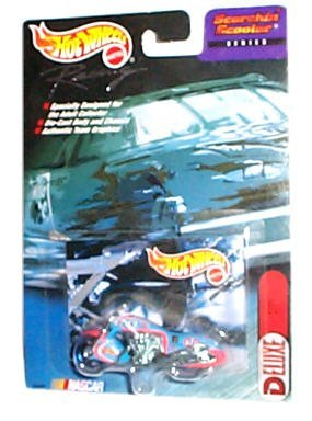 Hot Wheels Racing - NASCAR - Scorchin' Scooter Series - Deluxe: STP #43 Motorcycle (Orange/Blue/White) - 1