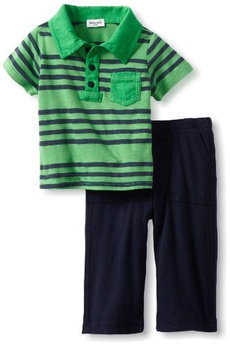 Review Splendid Littles Baby-Boys Newborn Capri Polo Set, Lawn, 6-12 Months  Best Offer