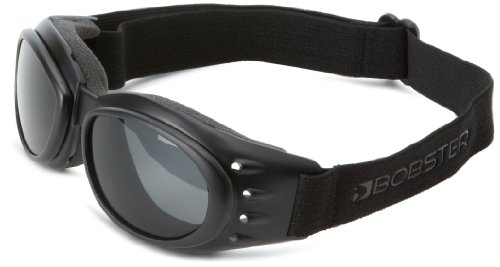Bobster Cruiser 2 Goggles,Black Frame/3 Lenses (Smoked, Amber and Clear),one size (Motorcycle Cruiser Accessories compare prices)