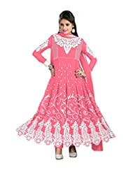 Trendz Apparels Pink 60 Gm Georgette Anarkali Suit Salwar Suit - B011KPDUOG